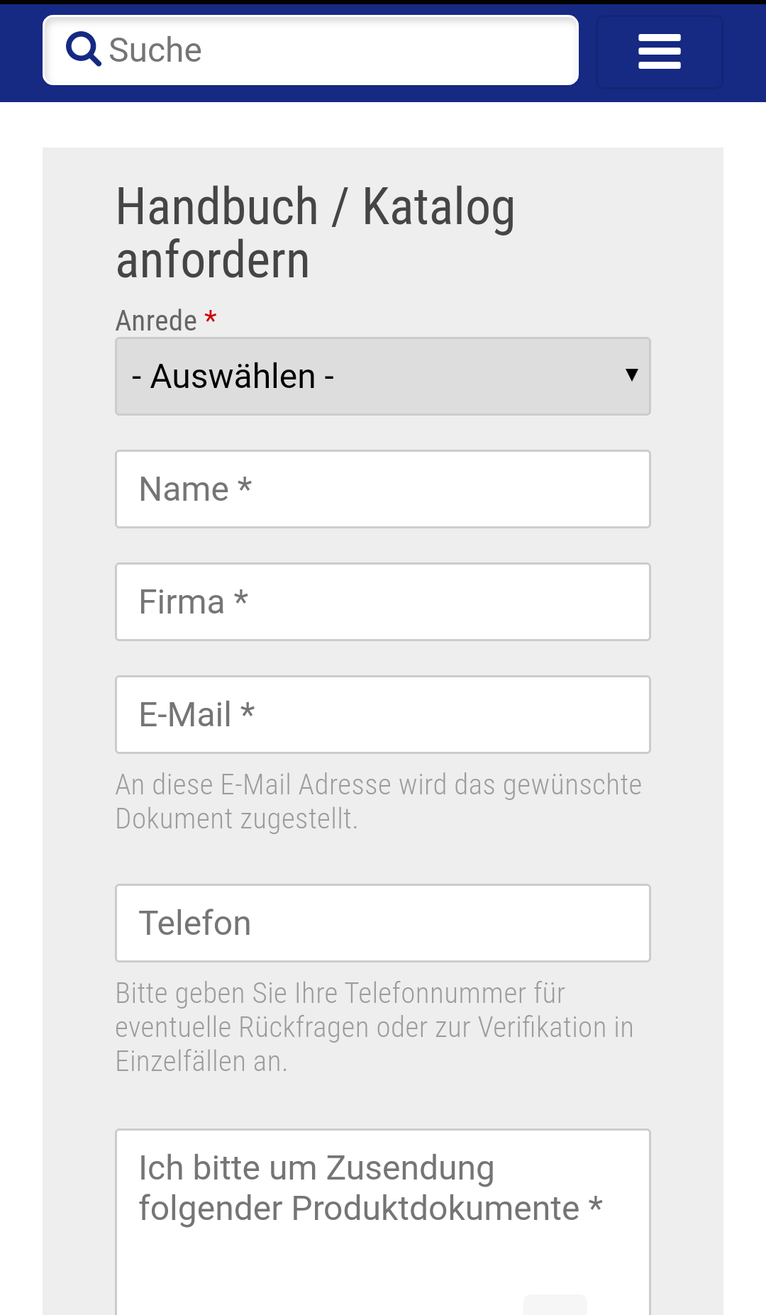 Smartphone Formular