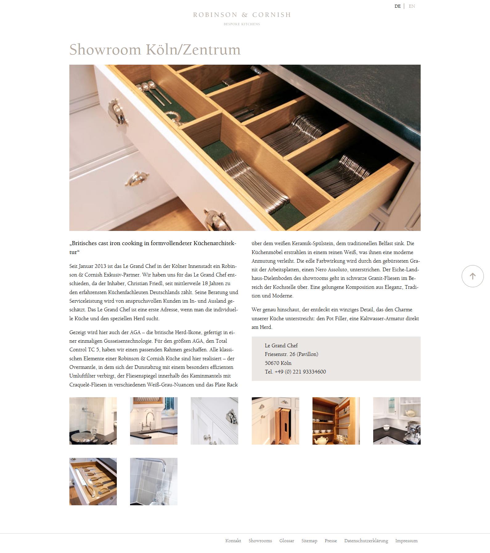 Referenz Drupal Cms Webdesign Robinson Cornish Bespoke Kitchens