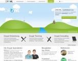Screenshot Startseite DROWL.de - Die Drupal CMS Spezialisten aus Ostwestfalen-Lippe (NRW)