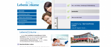 Webdesign Webseite Lebens(t)räume - Barrierefreies Leben aus Porta Westfalica