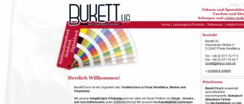 Webdesign Agentur Bukett-Druck.de Porta Westfalica