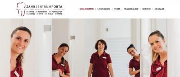 Startseite Zahnzentrum Porta Westfalica - Headerbild Team