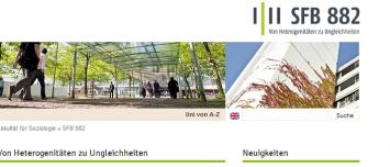 Drupal 7 Template Webdesign Universität Bielefeld - SFB 882 von Heterogenitäten zu Ungleichheiten