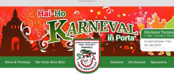 Gruen-Rote-Buett.de Karnevalsverein Porta Westfalica Drupal 7 CMS Responsive Web Design