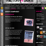Webdesign & Social Media Integration Factory4Dance aus Porta Westfalica