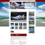 Drupal CMS Darstellung eines Flugzeugs auf einem PC-Monitor