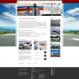 Drupal CMS Darstellung der Startseite auf einem PC-Monitor