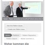 Programmierung Drupal 7 CMS Online-Forschungsplattform Smartphoneansicht