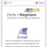 Smartphone Darstellung der Drupal CMS Website