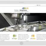 Tablet Landscape Darstellung der Drupal CMS Website