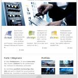 Tablet Portrait Darstellung der Drupal CMS Website