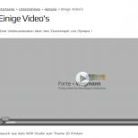 HTML 5 Video Einbettung in das Webdesign der Drupal 7 CMS Website
