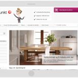 möbelpunkt.de aus Hameln Webdesign Startseite auf einem großen Tablet PC