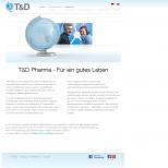 Vorstellung des Unternehmens TD-Pharma.de Drupal 7 Webdesign