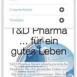 Mobile Navigation TD-Pharma.de Drupal 7 Webdesign