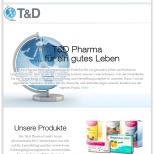 Darstellung auf Tablet TD-Pharma.de Drupal 7 Webdesign