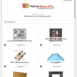 Darstellung auf kleineren Tablets / hochkant im Homedeco-24 Bilderrahmen Onlineshop