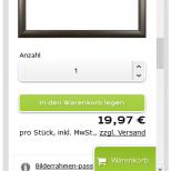 Drupal Commerce Konfigurator Onlineshop Entwicklung Konfigurator auf einem Smartphone (Rahmenvorschau)