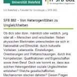 Uni Bielefeld SFB 882 - Webdesign Website Smartphone Ansicht