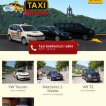 Responsive Webdesign Porta Westfalica Taxi Schrader: Tablet-Ansicht
