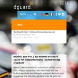 dguard.com - Startseite Smartphone A/B Testing, reguläre Farbdarstellung