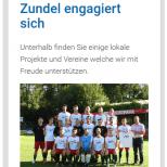 Containerdienst Zundel aus Barsinghausen bei Hannover - Seite Engagement auf einem Smartphone