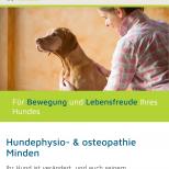 Hundephysio-Minden.de Webdesign Startseite Smartphone