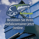 Abfallexpress.de - Portal auf einem Smartphone