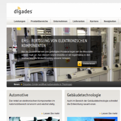 Digades Drupal 7 Mobile Template Design