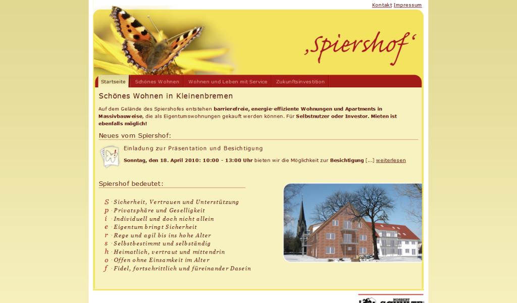 Webdesign Spiershof - Wohnen und Leben mit Service
