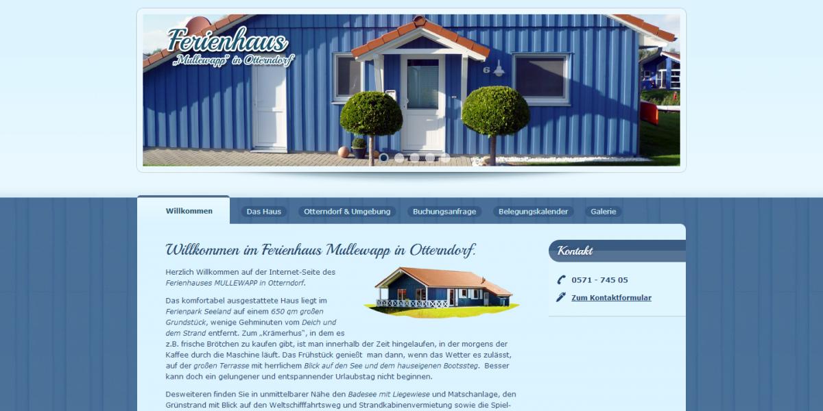 Webdesign Ferienhaus Mullewapp in Otterndorf Drupal 6 Website