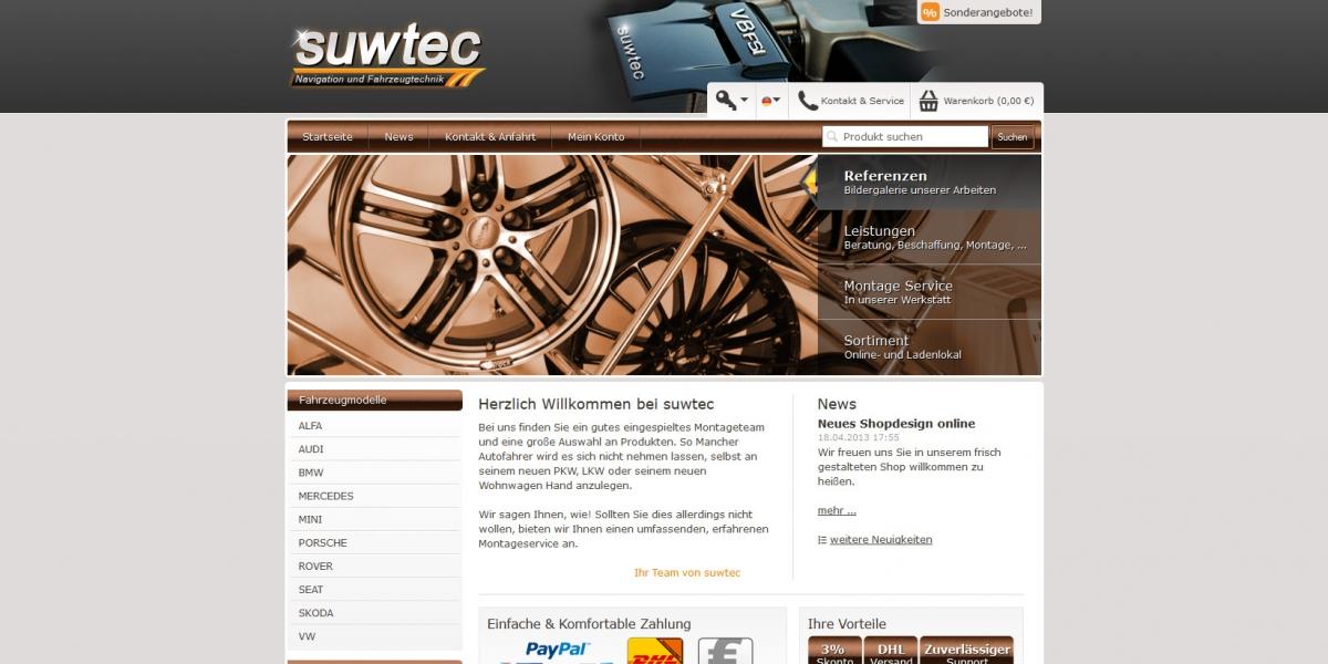 JTL-Shop3 Onlineshop Entwicklung & Pflege suwtec