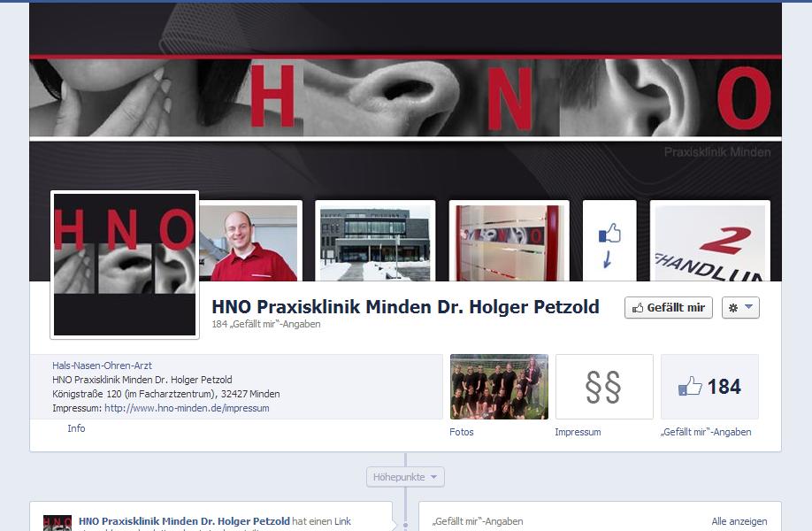 HNO Minden Facebook Social Media Design Agentur