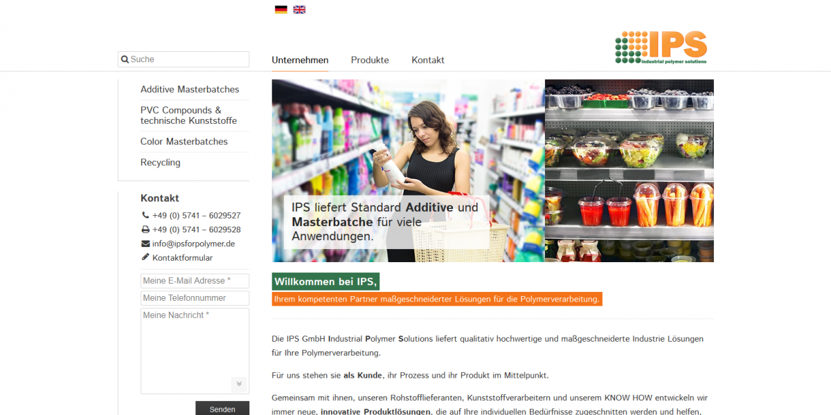 Drupal 7 CMS Website IPS GmbH (Minden in Westfalen)