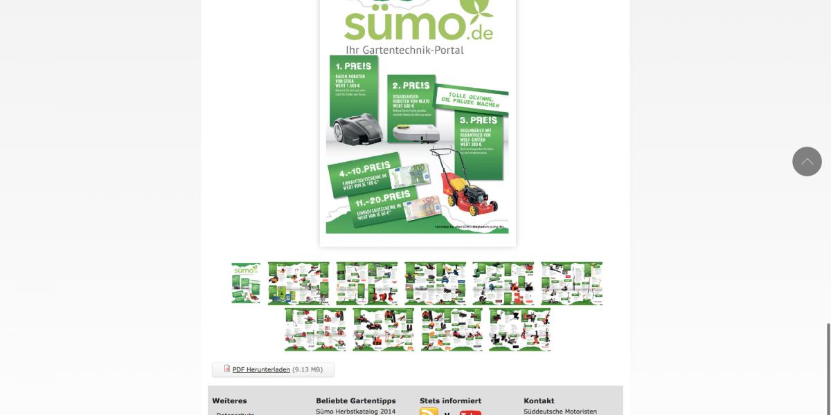Sümo.de Drupal 7 HTML5 Blätterkatalog als Drupal Modulentwicklung