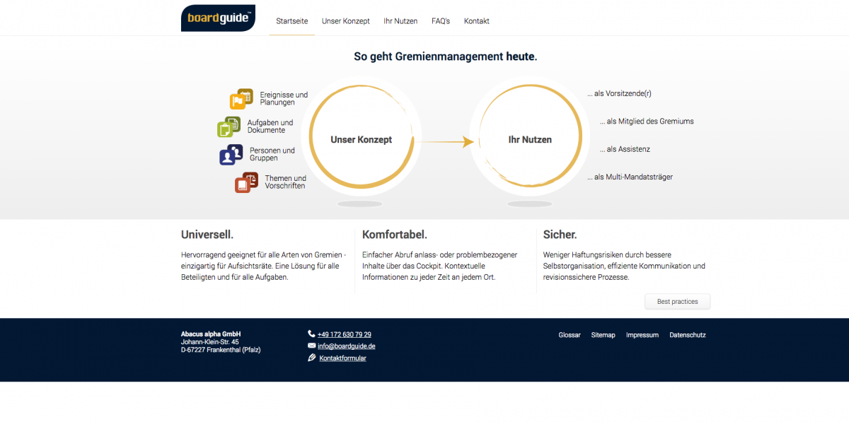 boardguide.de - Drupal 7 CMS Web Design
