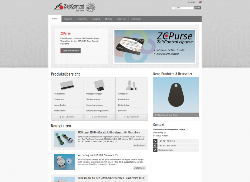 ZeitControl.de: Drupal 7 Multilanguage Web Design