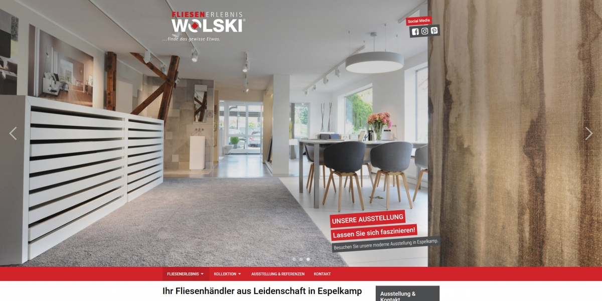 Drupal 8 Webdesign Fliesenerlebnis Wolski Espelkamp