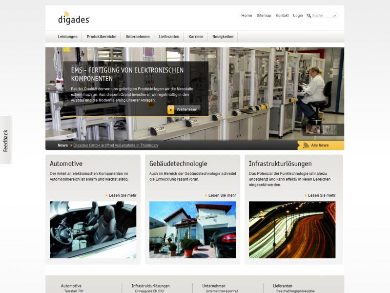 Digades Drupal 7 Mobile Template Design