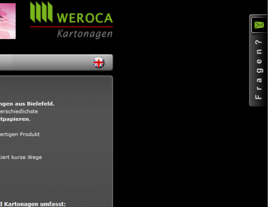 Weroca Kartonagen Webdesign Kontakt Layer