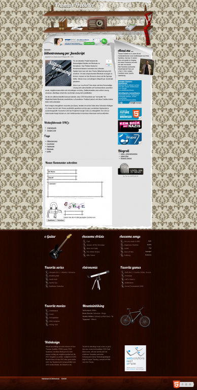 Drupal 7 Webdesign privater Blog Thomas Frobieter