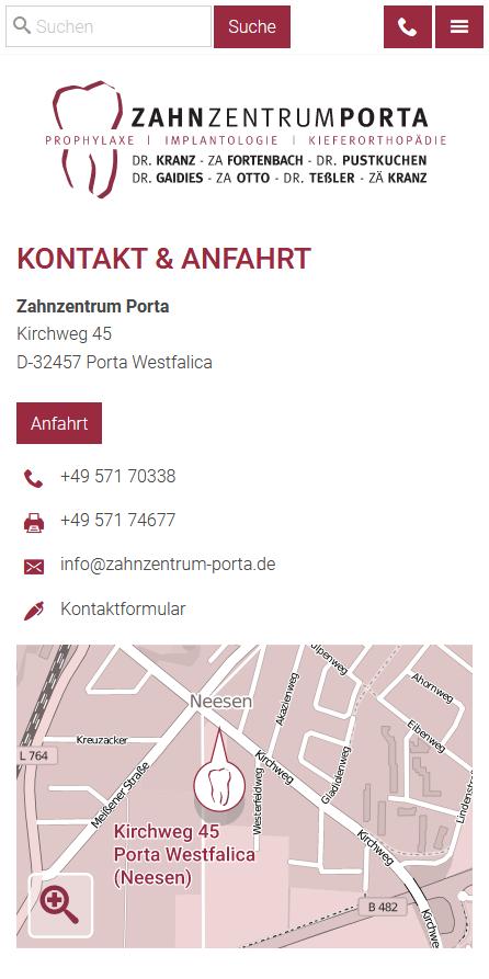 Smartphone: Kontakt & Anfahrt
