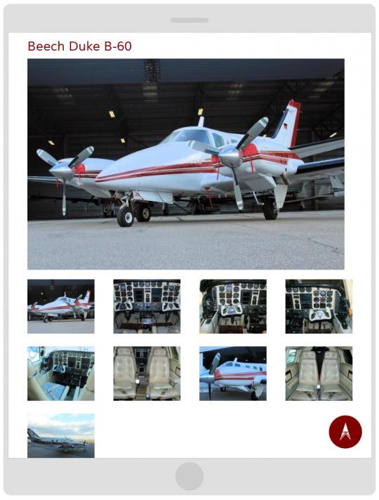 Drupal CMS Responsive Flugzeug Ansicht auf einem Tablet (Portrait)