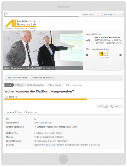 Programmierung Drupal 7 CMS Online-Forschungsplattform Tablet Optimierung