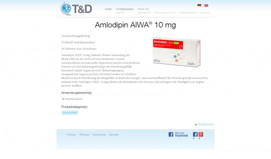 Produktansicht TD-Pharma.de Drupal 7 Webdesign