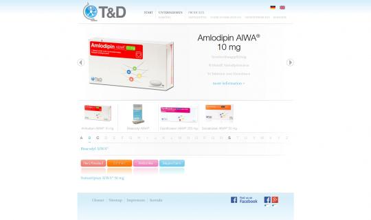 Produkteübersicht TD-Pharma.de Drupal 7 Webdesign