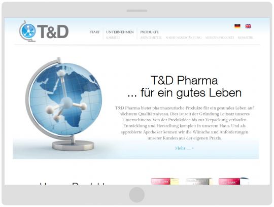 Darstellung auf kleinem Tablet TD-Pharma.de Drupal 7 Webdesign
