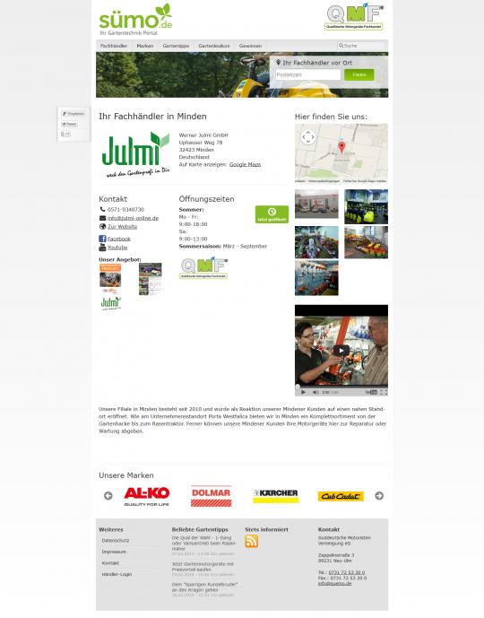 Sümo.de - Fachhändler Seite