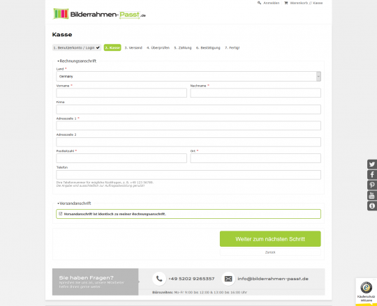 Drupal Commerce Konfigurator Onlinesh Checkout Finishop Entwicklung