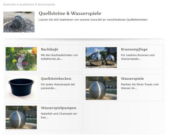 Kategorieübersicht von Bellamondo.de
